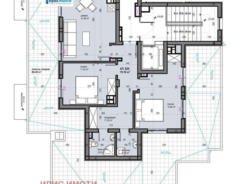 тристаен апартамент софия l3khdufg