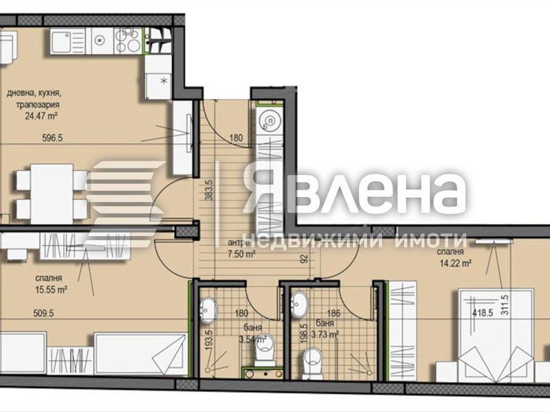 тристаен апартамент софия l68e6s3w