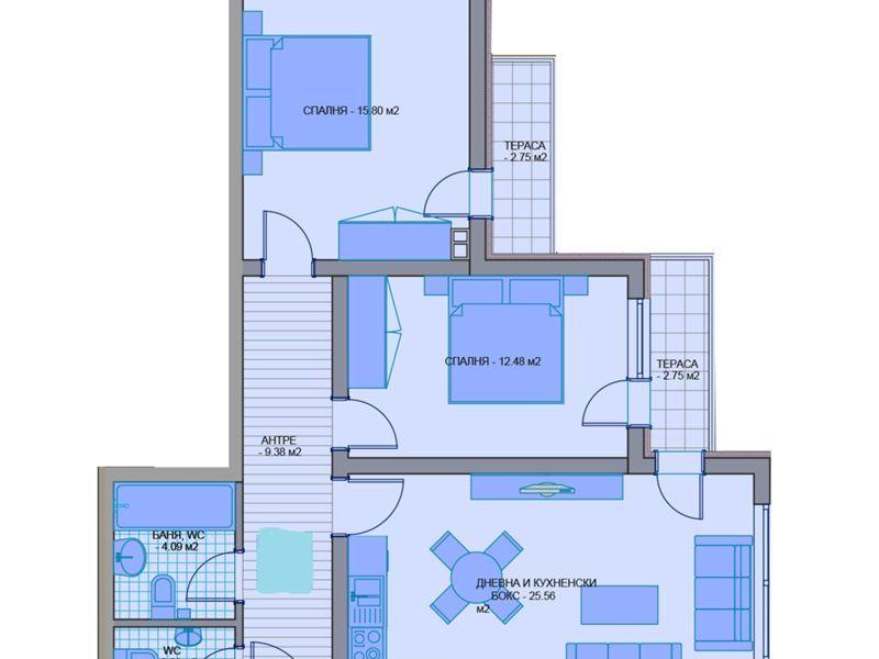 тристаен апартамент софия lhsh94ap