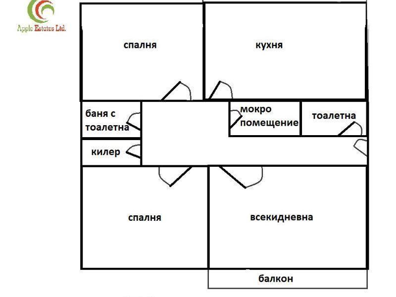 тристаен апартамент софия m1dhng47