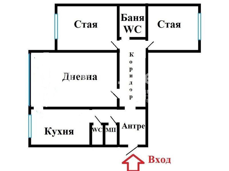 тристаен апартамент софия mf32suy9