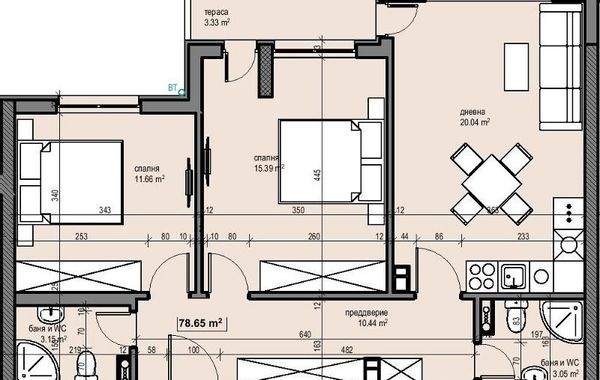 тристаен апартамент софия mskthee3