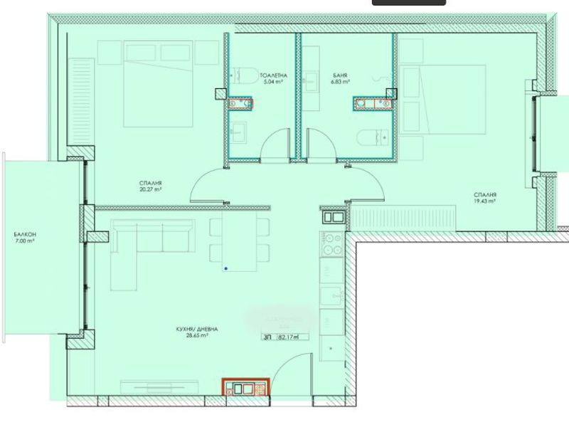 тристаен апартамент софия nmev7dq4