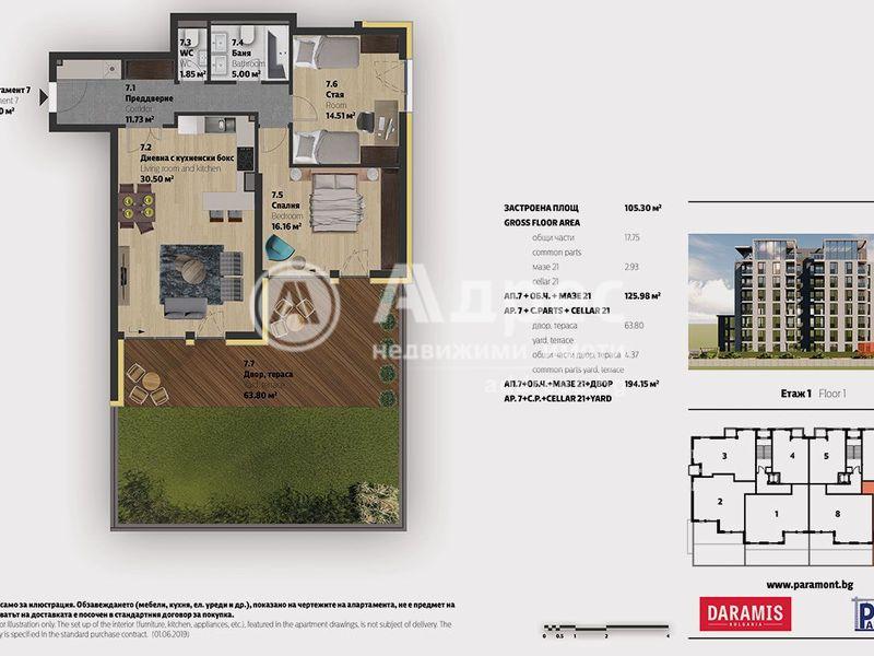 тристаен апартамент софия qarrkr37