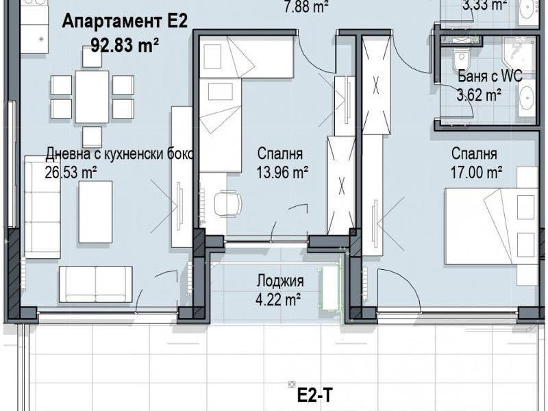 тристаен апартамент софия sxc51v8a