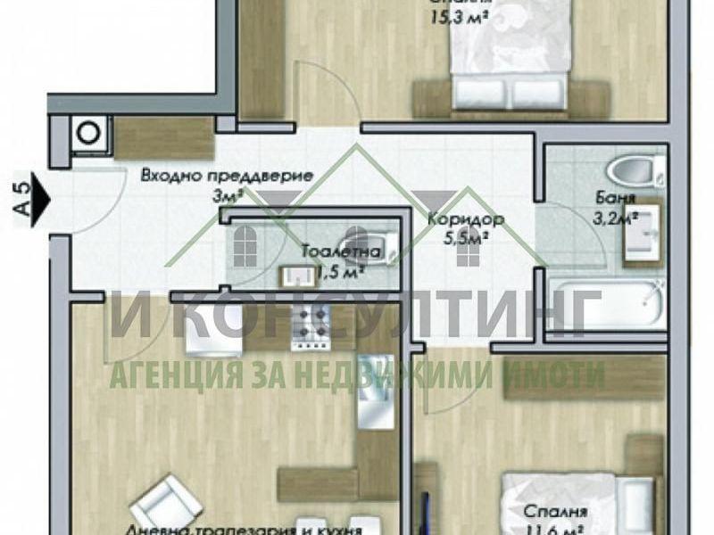 тристаен апартамент софия tl1luftc