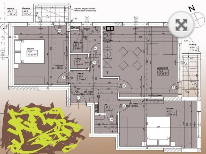 тристаен апартамент софия u7e9dfqh