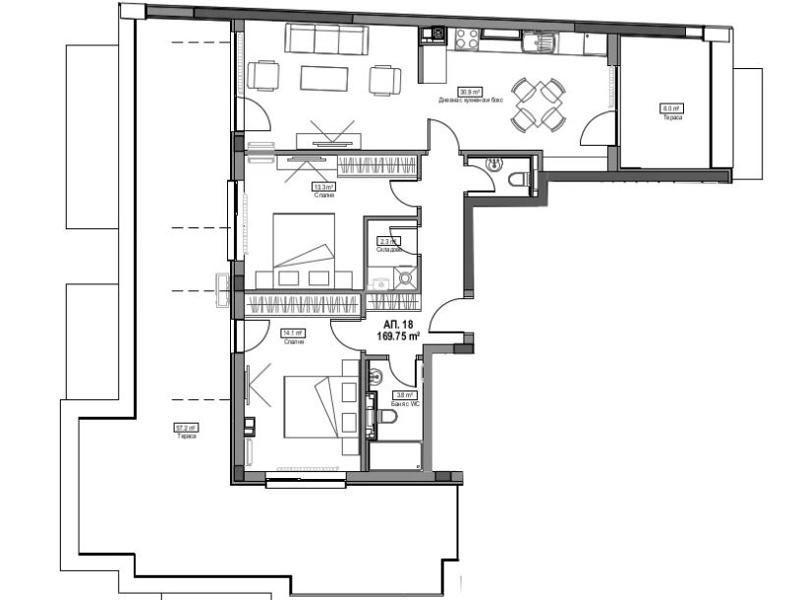 тристаен апартамент софия v3ftnv9g