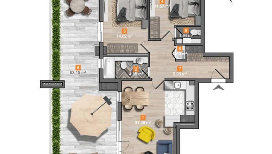 тристаен апартамент софия x7m11vkr