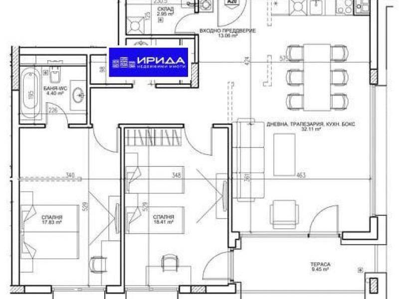 тристаен апартамент софия xfad62h2
