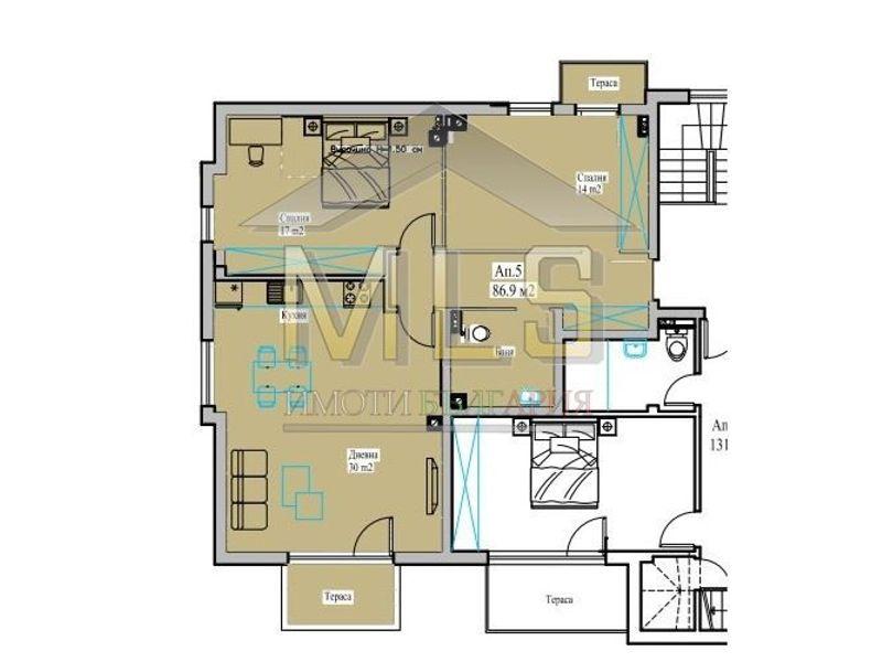тристаен апартамент софия ylumm3av