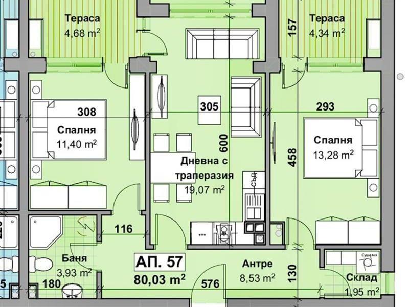 тристаен апартамент стара загора 957tpd57