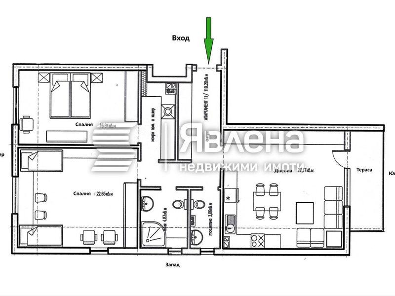 тристаен апартамент ямбол x4r6p278